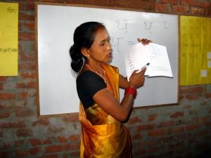 Rajbanshi literacy teacher training